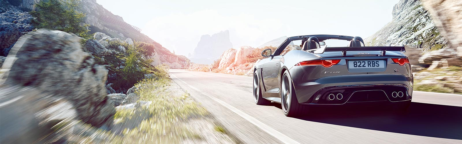 F-TYPE Convertible in desert.