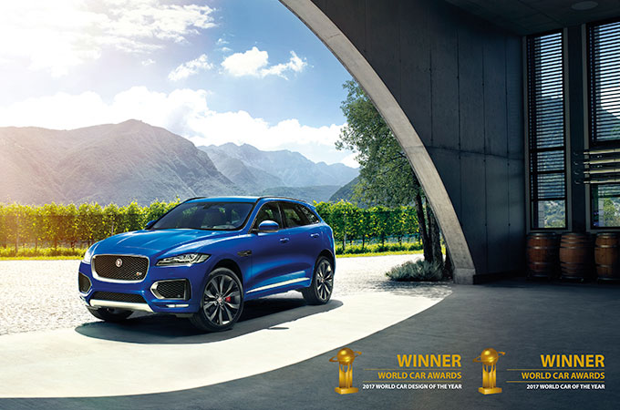 F-PACE with two World Car Award Commendations.