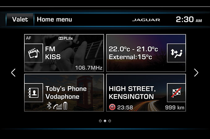 Touch Plus home menu for InControl.