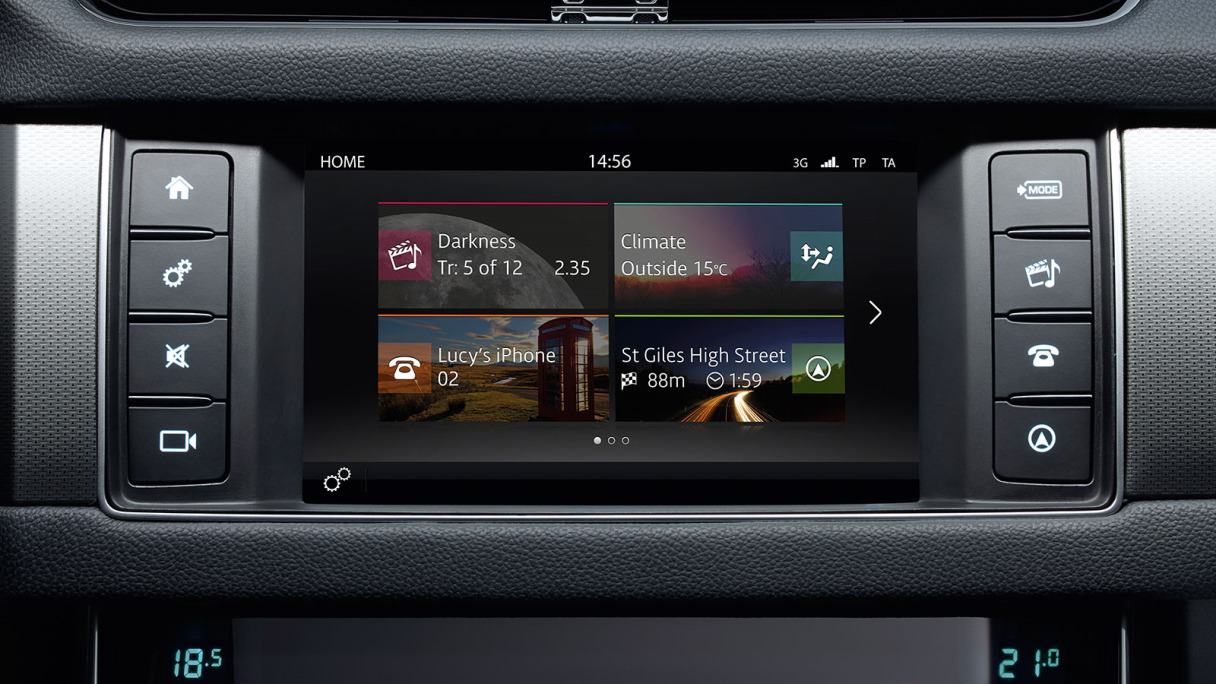 InControl Touch multimedia system, dashboard and steering wheel.