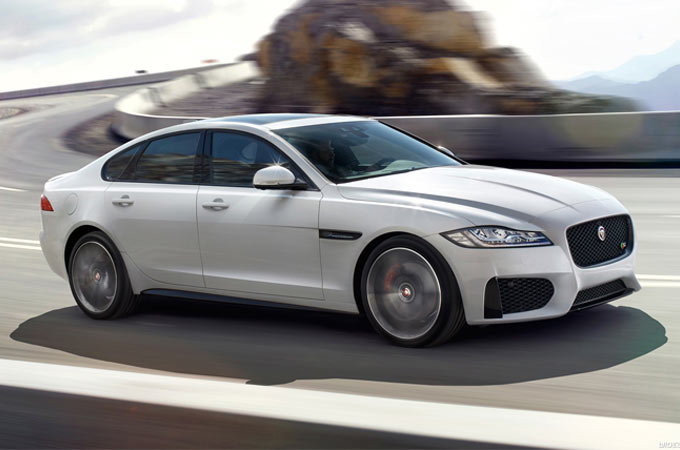 White Jaguar XF-S