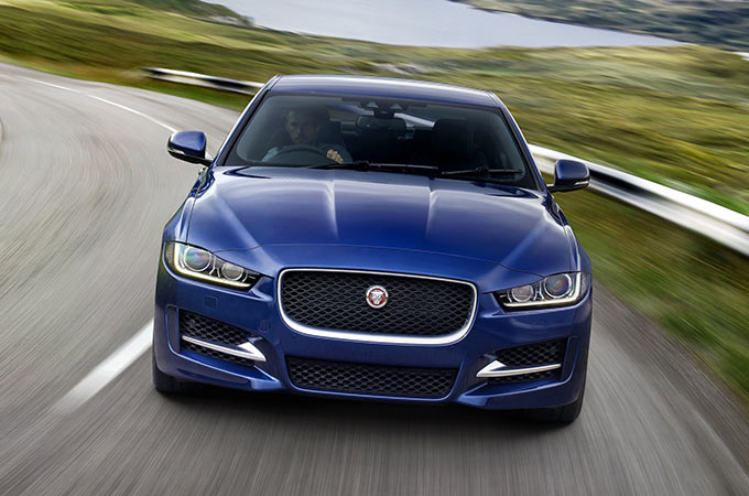Front view of Blue XE.