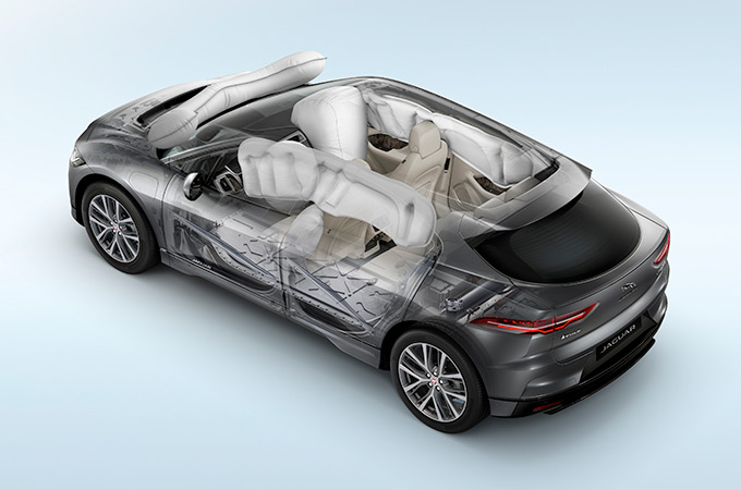 IPace Airbag locations