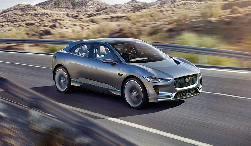I-PACE Concept driving on highway.