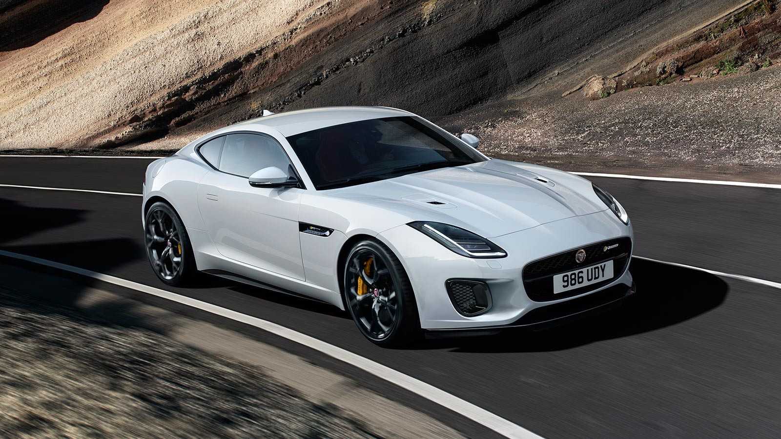 F-TYPE R IN YULONG WHITE WITH OPTIONAL FEATURES FITTED.