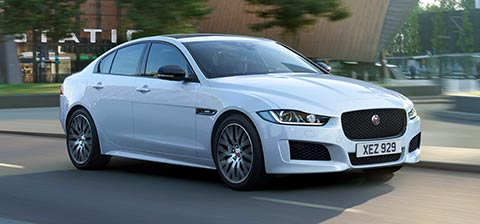 Jaguar XE Landmark Luxury Saloon Spoorts Car.