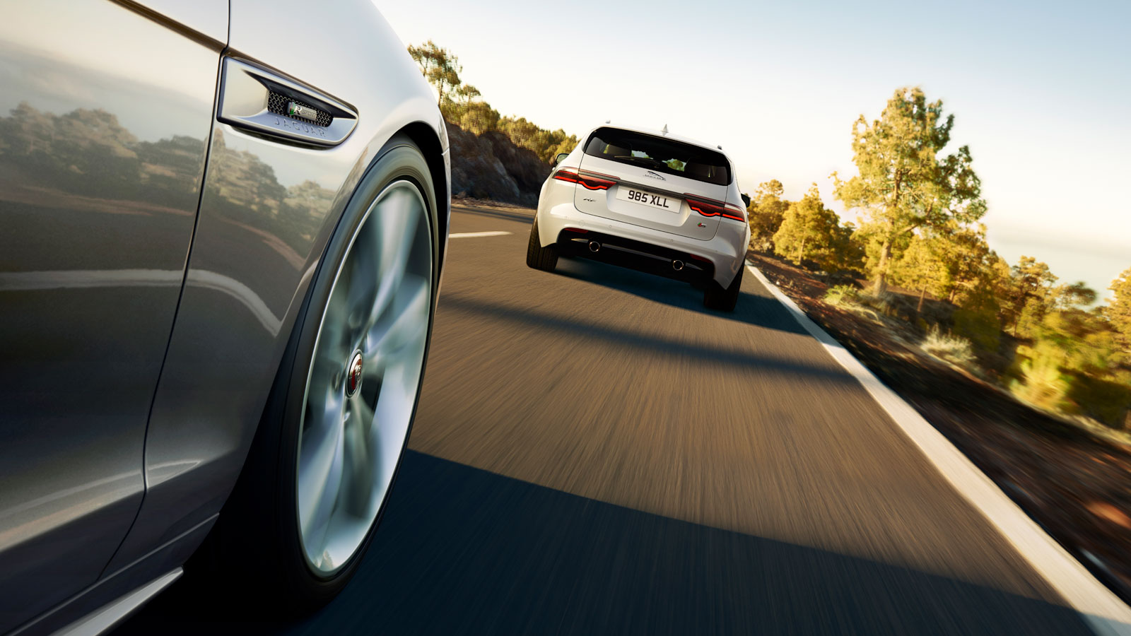 Jaguar XF Driving On Road
