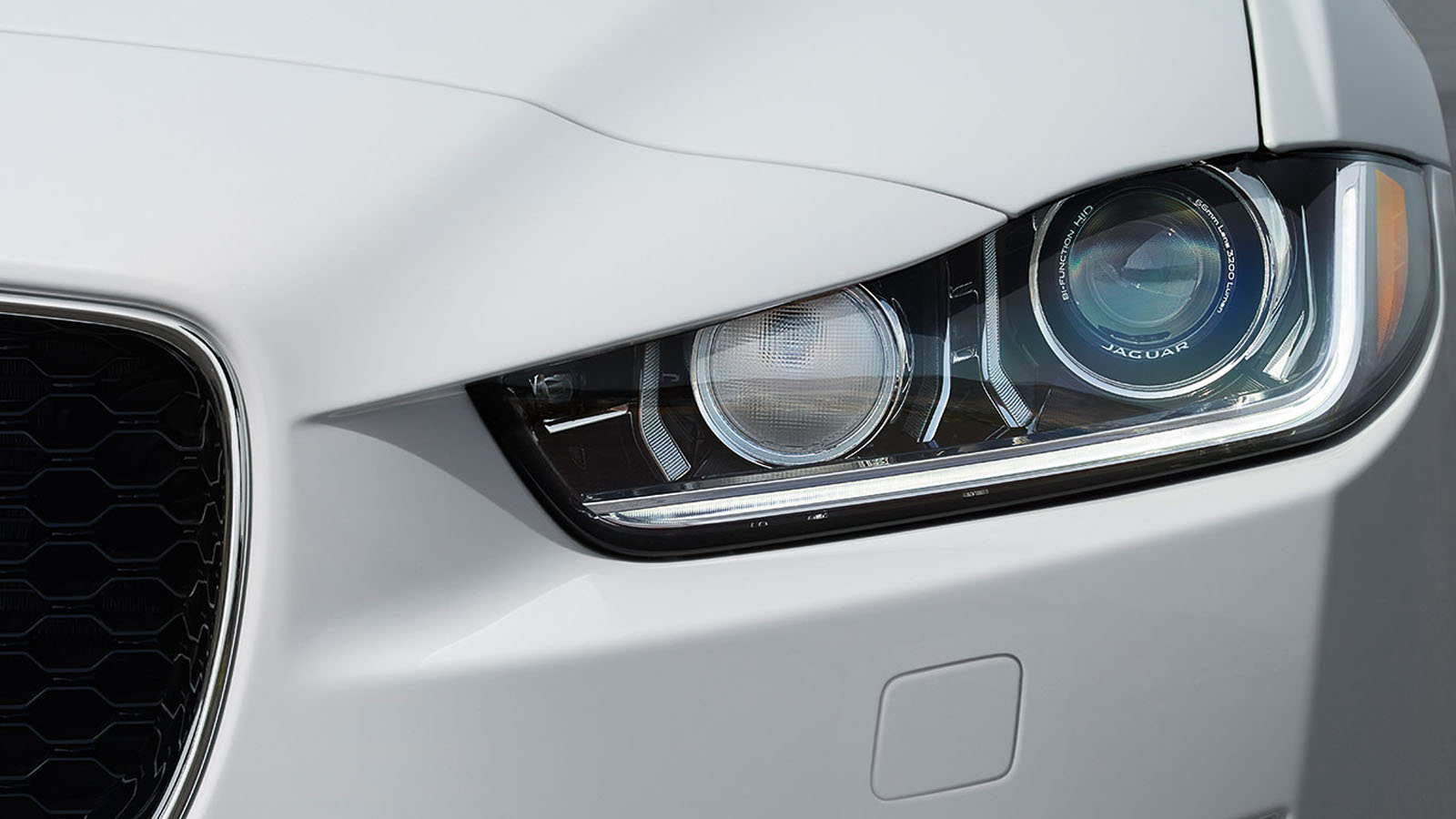 Close-up of XE headlight.