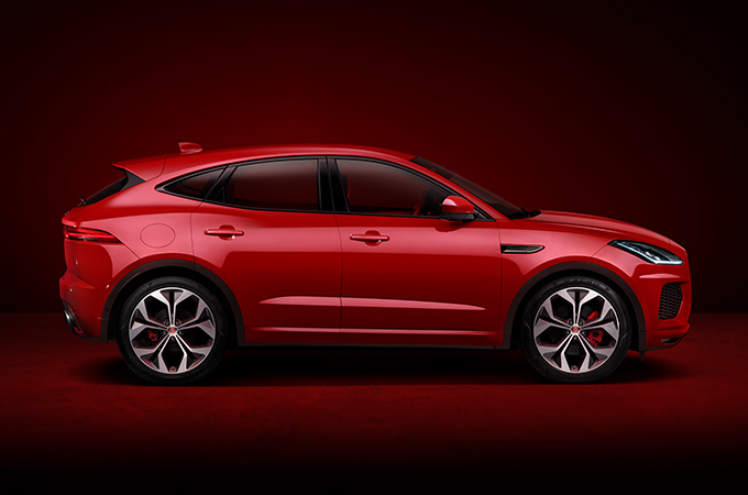 Jaguar E-PACE in Caldera Red.