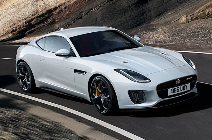 Jaguar F-TYPE in Fuji White.