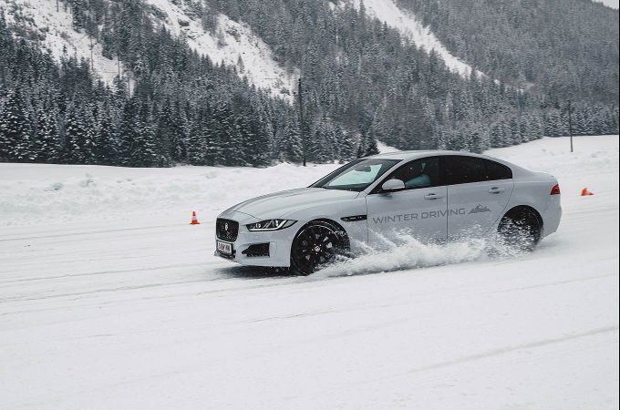 Jaguar Winter Driving