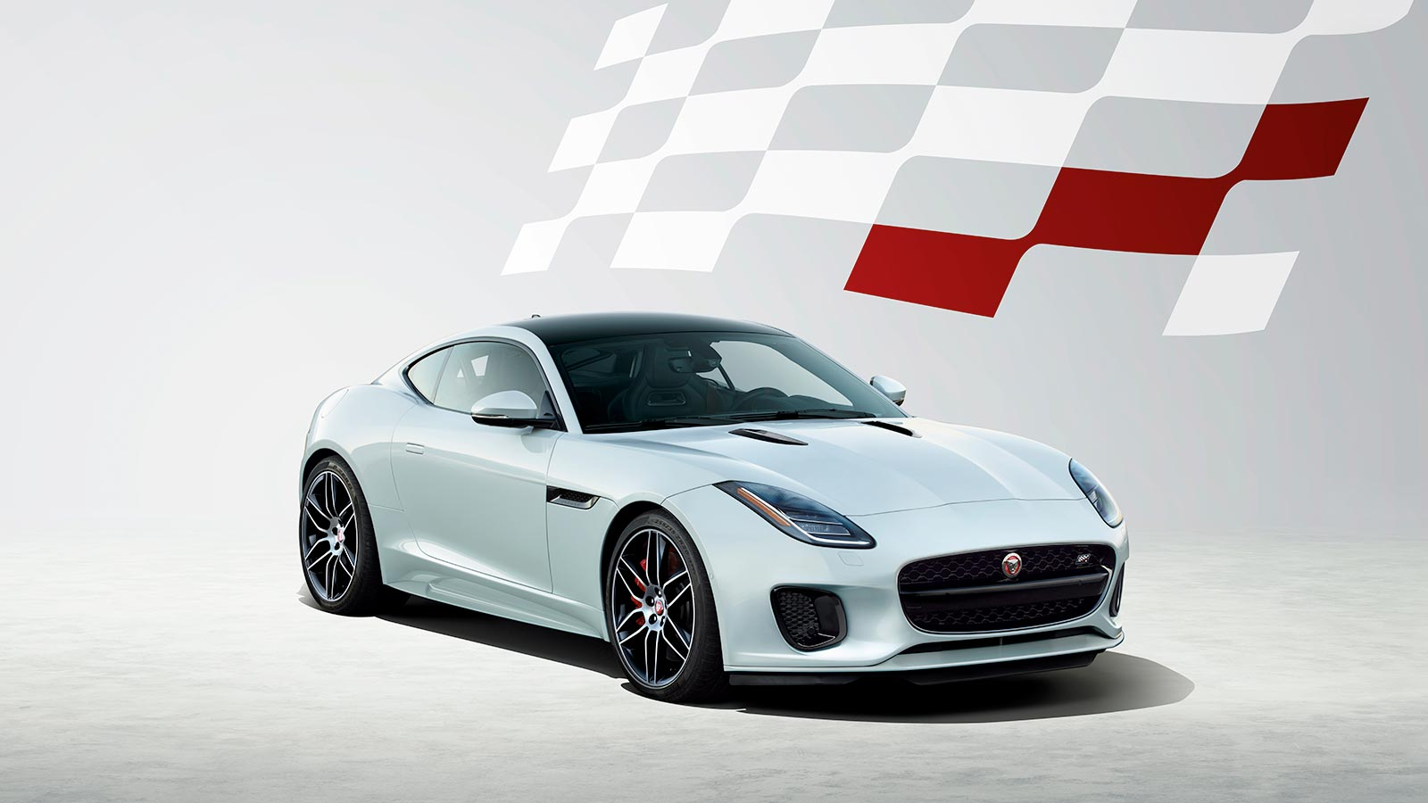White F-TYPE Checkered Flag Edition Coupe Exterior