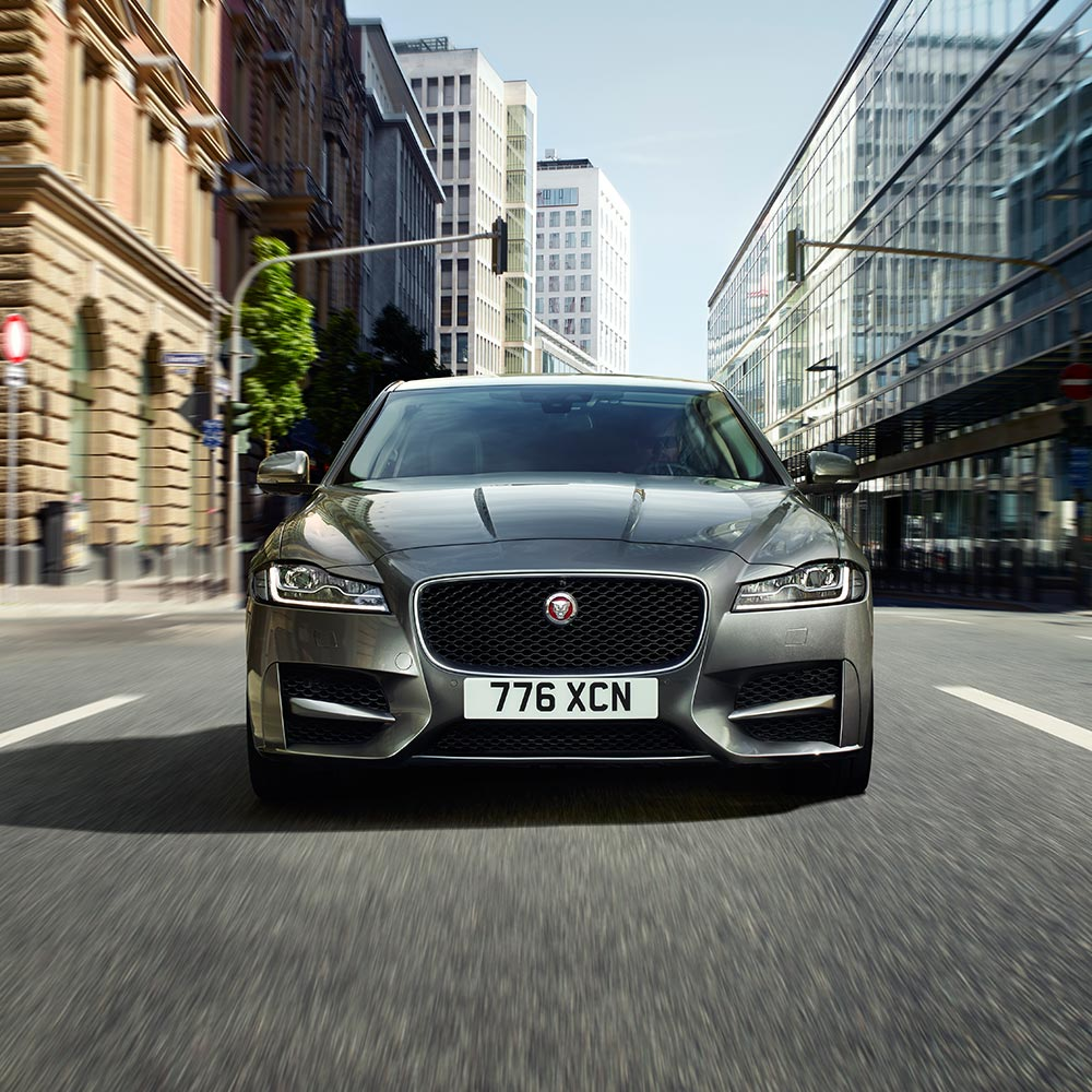 Front view of grey XF.