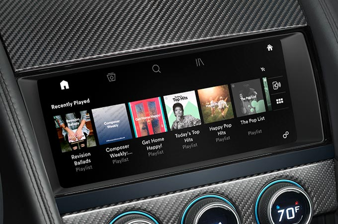 F-TYPE Smartphone Package on Touch Pro™ interface