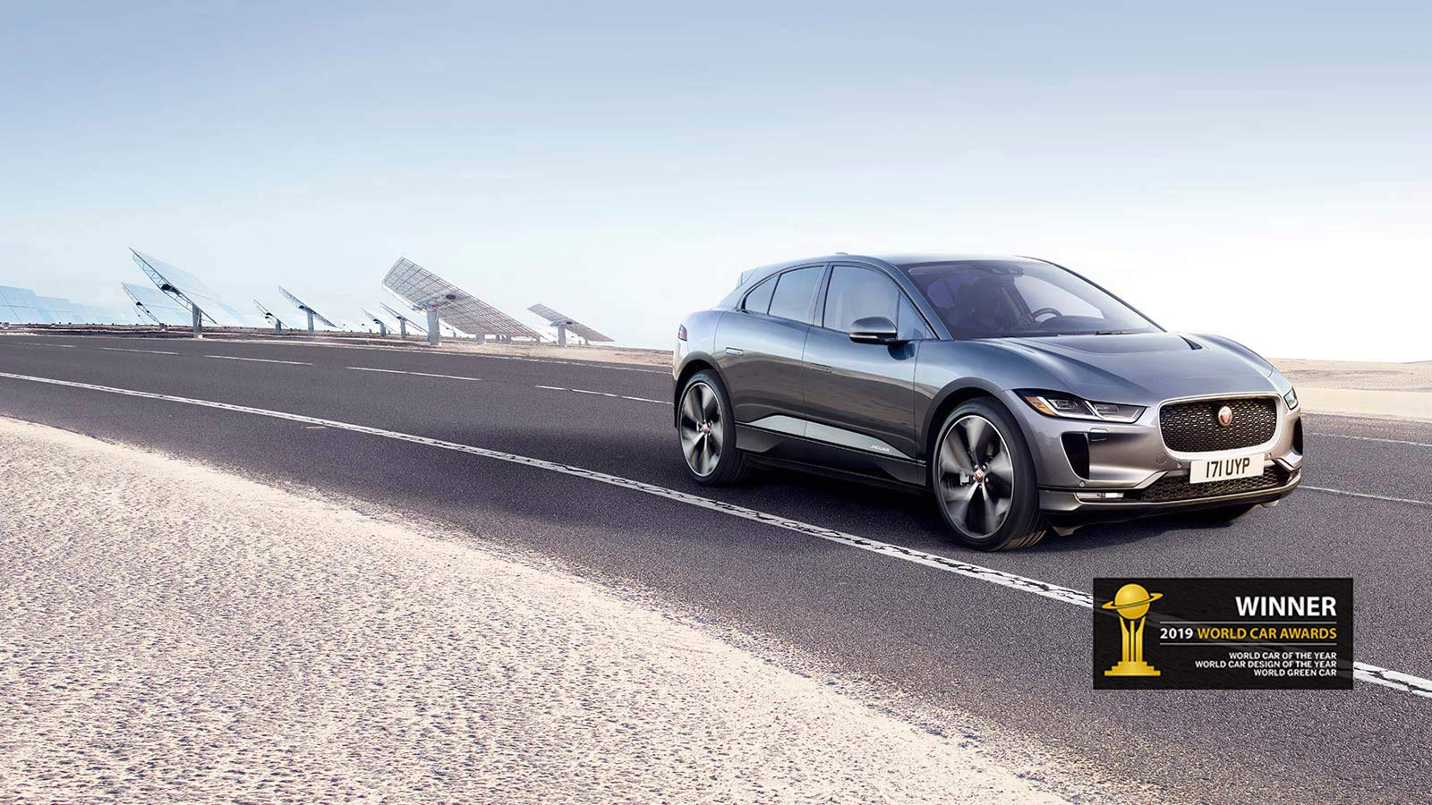 I-PACE World Car of the Year, World Car Design of the Year, World Green Car.