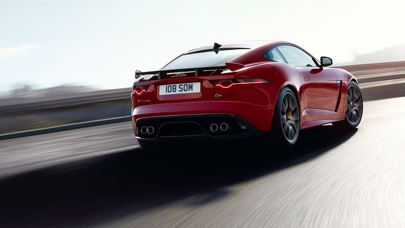 F-TYPE SVR IN CALDERA RED WITH OPTIONAL FEATURES FITTED